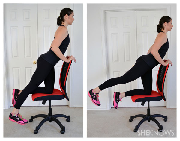 Tremendous Leg Exercises You Can Do From Your Office Chair Sheknows Gmtry Best Dining Table And Chair Ideas Images Gmtryco