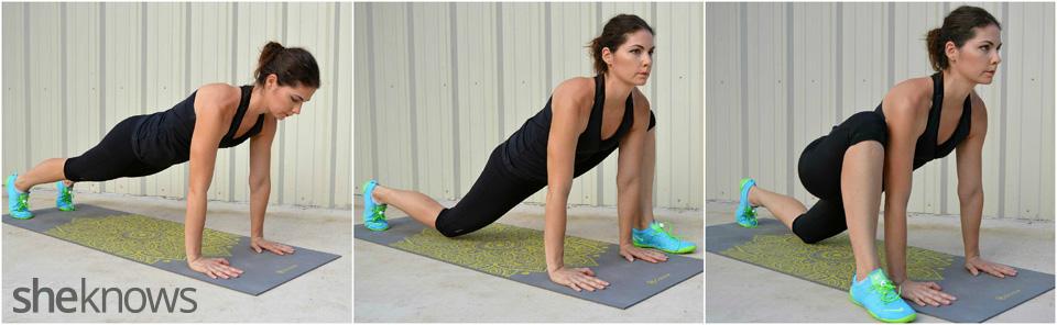 Hip stretch lunge