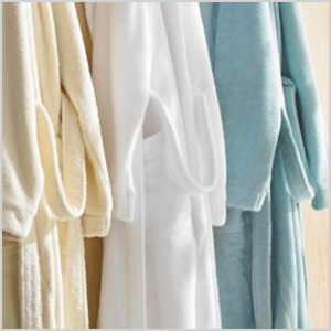 Babylon collection by Kassatex hooded bathrobes