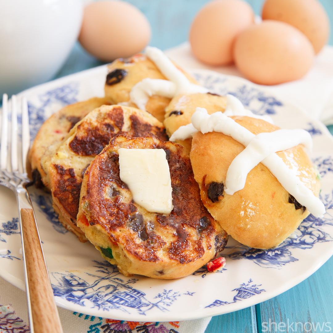 Hot cross bun French toast