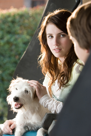 Emma Roberts and friend in Hotel for Dogs