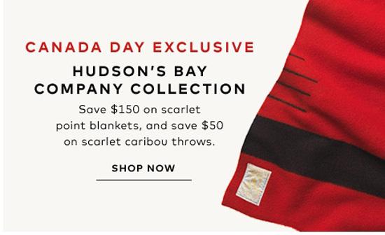Hudson's Bay Canada day sale