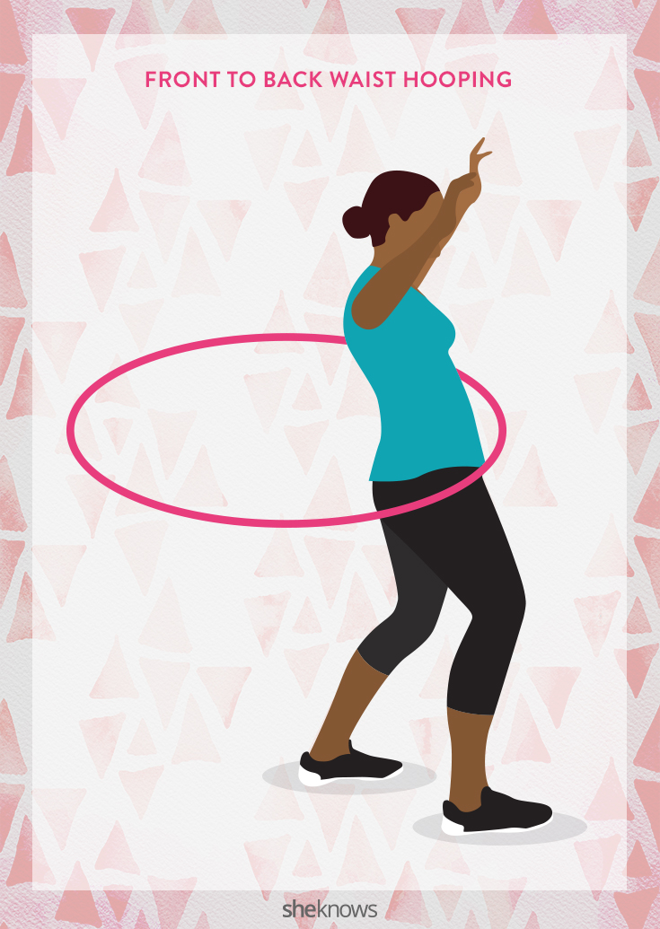 Front to back waist hooping