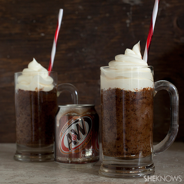 How can a root beer float get any better? Cupcakes!