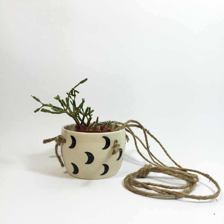 Crescent moon planter