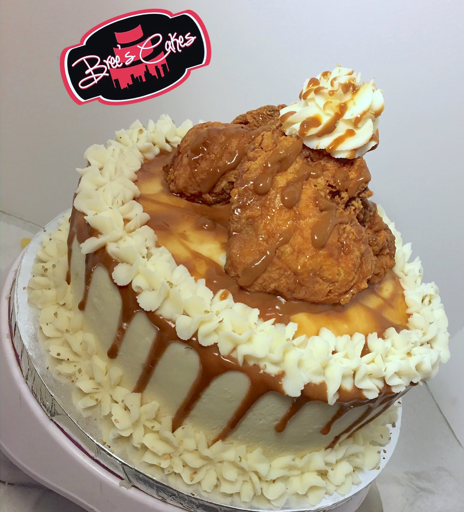 Fabulous This Fried Chicken Mashed Potato Cake Is A Dinner Dream Come True Personalised Birthday Cards Veneteletsinfo