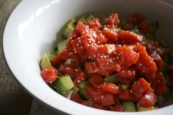 avocado salmon ceviche