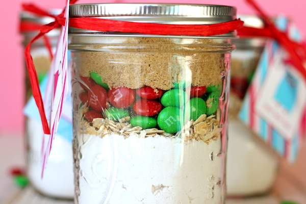 m&m cookies in jar