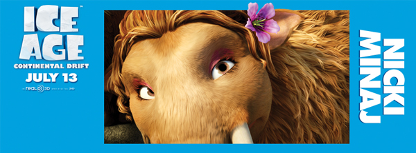 First look at Nicki Minaj in Ice Age: Continental Drift