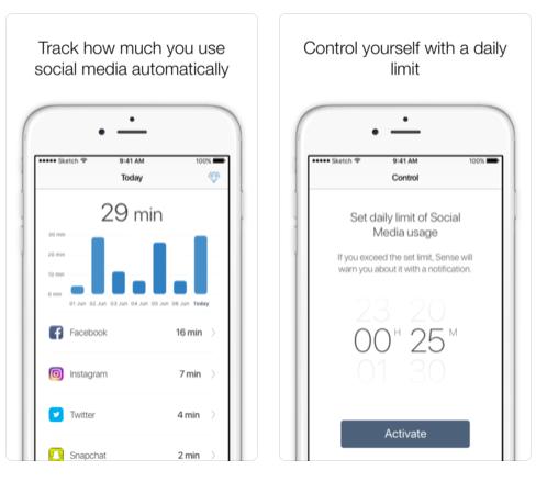 In Moment app screenshots
