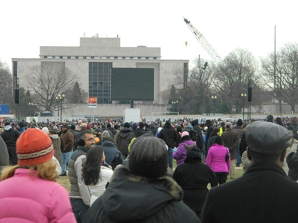 Black screen on Jumbo tron at 2013 Inauguration