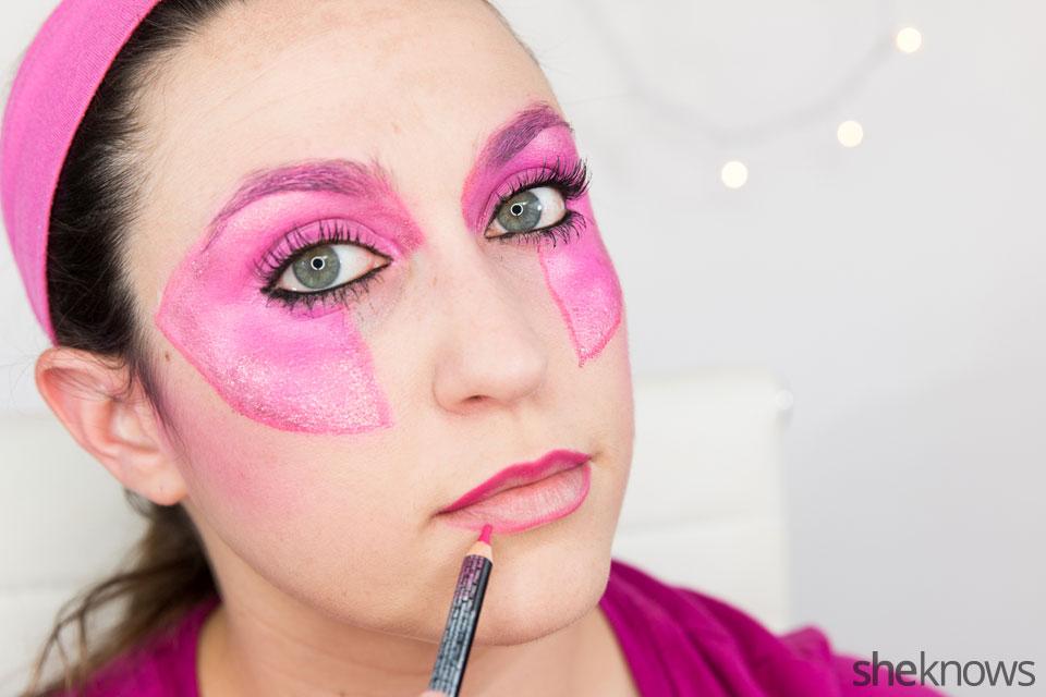 Jem Halloween makeup tutorial: Step 11