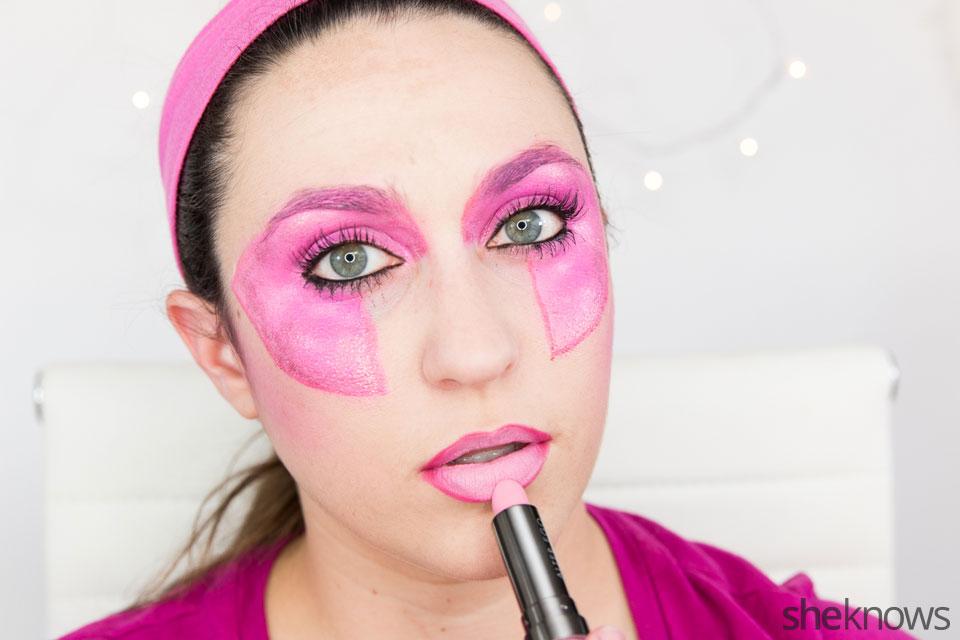 Jem Halloween makeup tutorial: Step 12