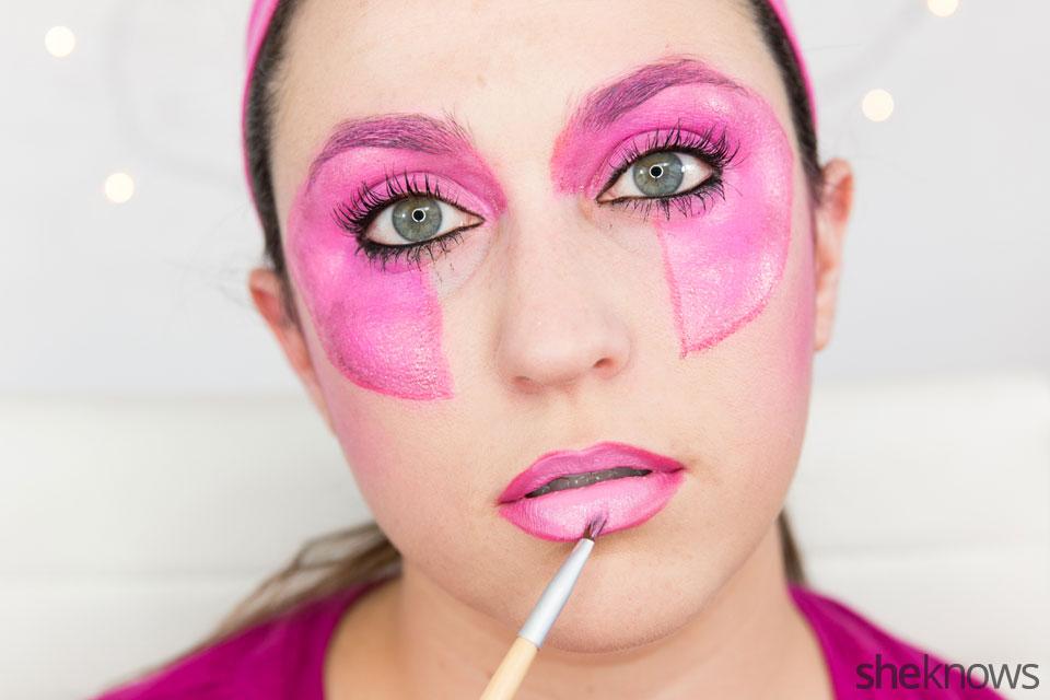 Jem Halloween makeup tutorial: Step 13