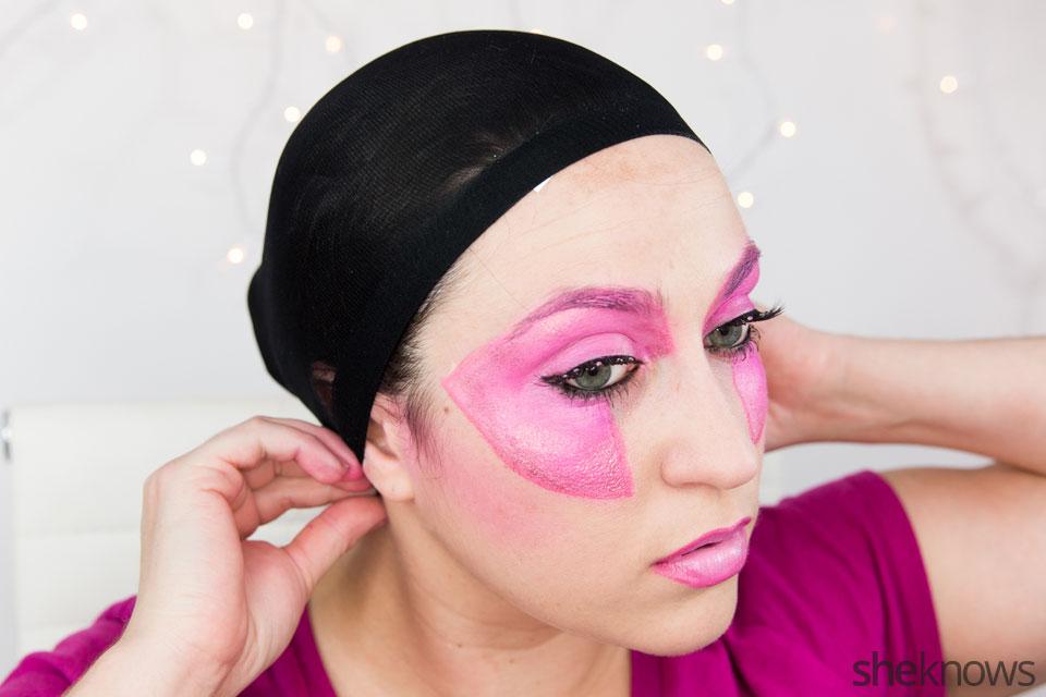 Jem Halloween makeup tutorial: Step 15