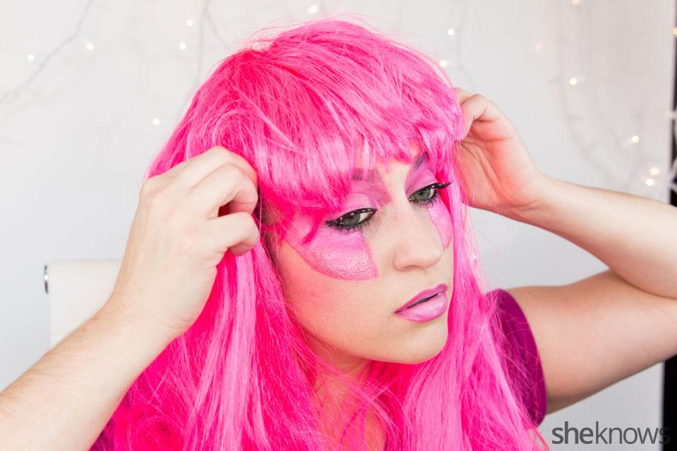 Jem Halloween makeup tutorial: Step 16