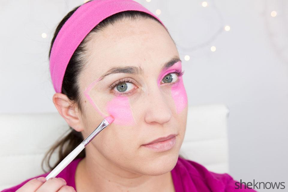 Jem Halloween makeup tutorial: Step 2