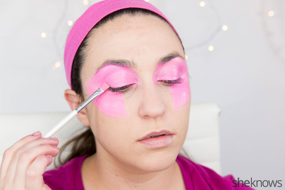 Jem Halloween makeup tutorial: Step 3