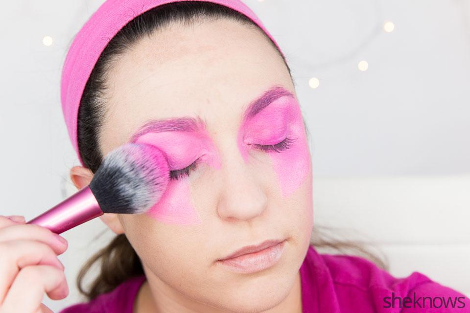 Jem Halloween makeup tutorial: Step 4