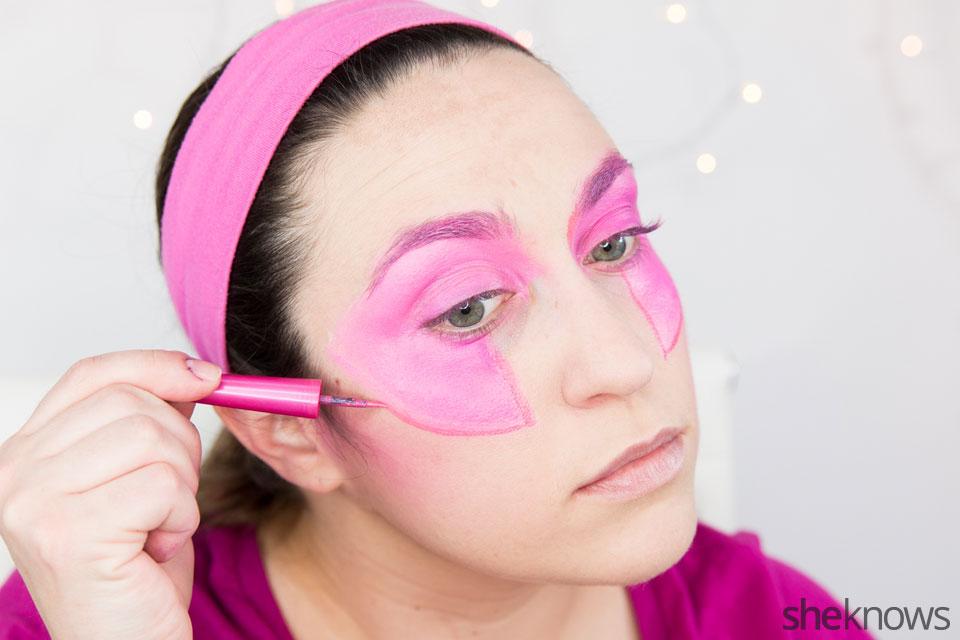 Jem Halloween makeup tutorial: Step 6