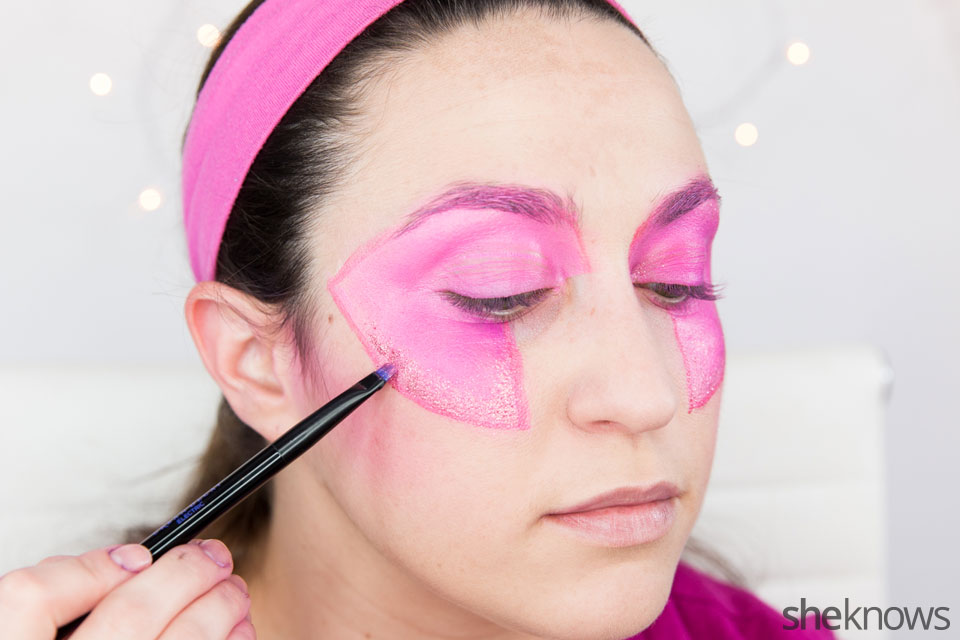 Jem Halloween makeup tutorial: Step 7