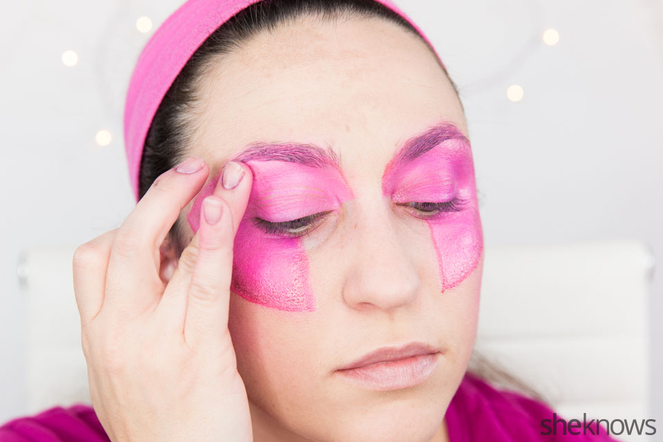 Jem Halloween makeup tutorial: Step 8