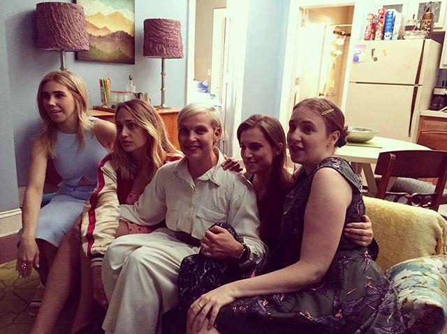 Jenn Rogien with the 'Girls'
