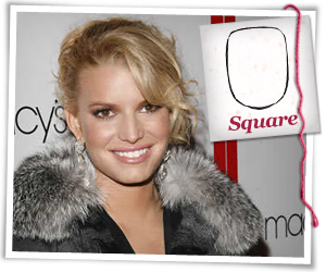 Jessica Simpson with a squared face hairstyle