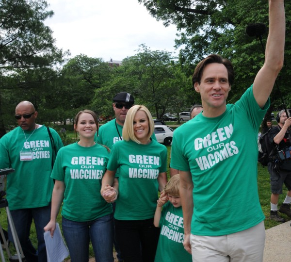Jim and Jenn march for a cause