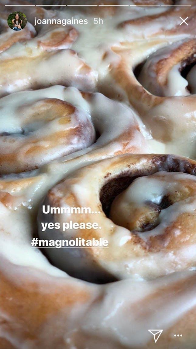 Joanna Gaines cinnamon buns