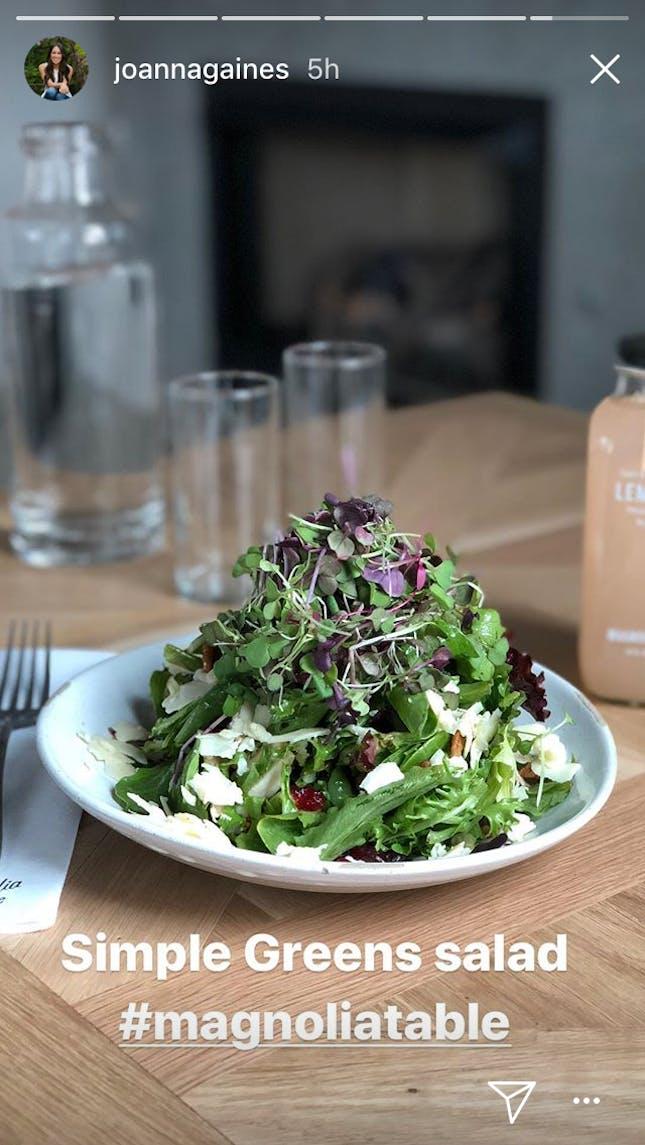Joanna Gaines simple greens salad