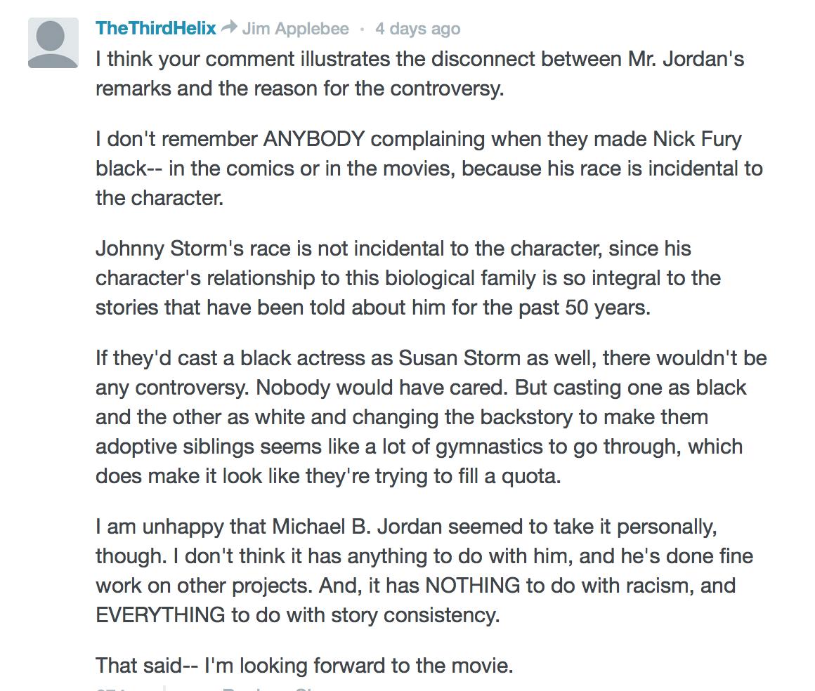 Fantastic Four Comments