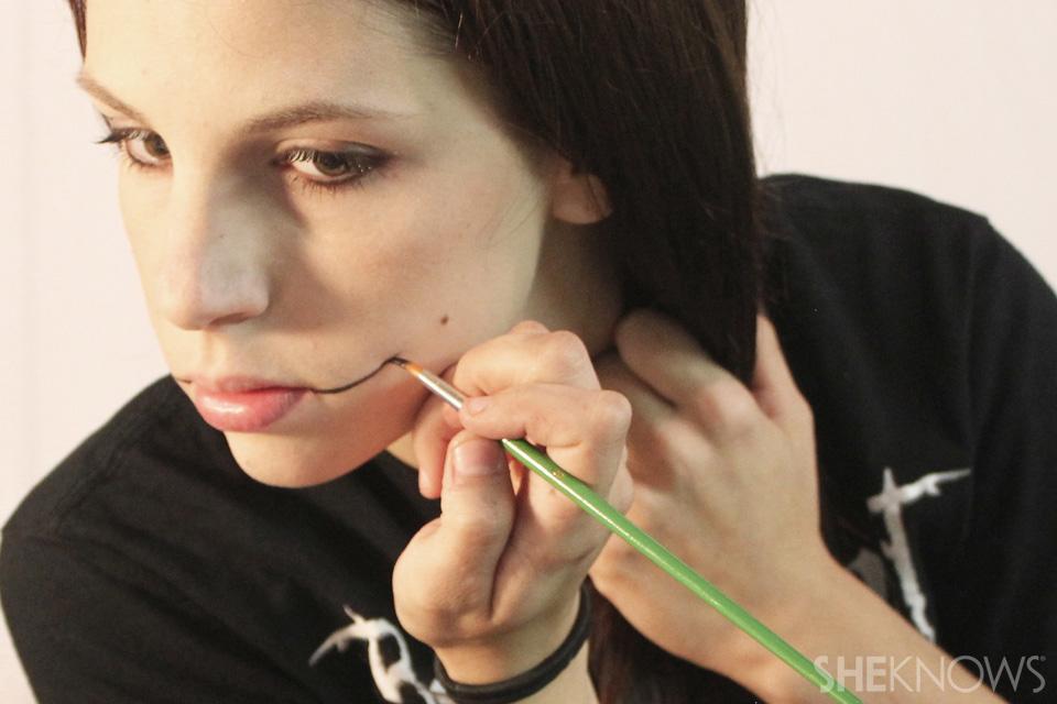 Freaky femme Joker makeup: Step 1