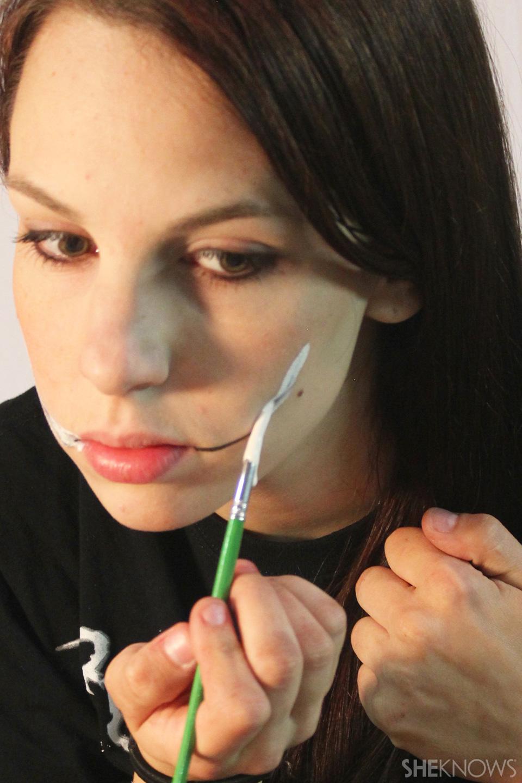 Freaky femme Joker makeup: Step 2