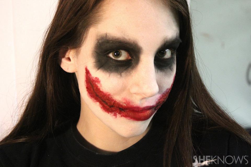 Freaky femme Joker makeup:Finished