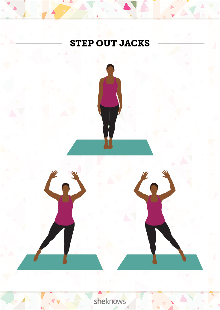 Step out jumping jacks