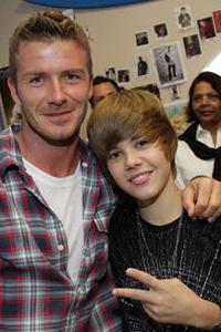 Justin Bieber and David Beckham