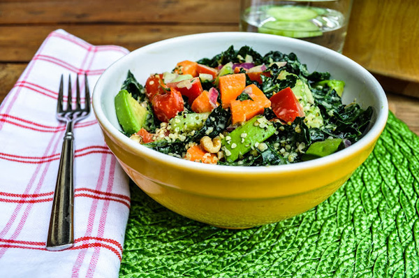 Kale Salad with Tahini and Lemon Dressing