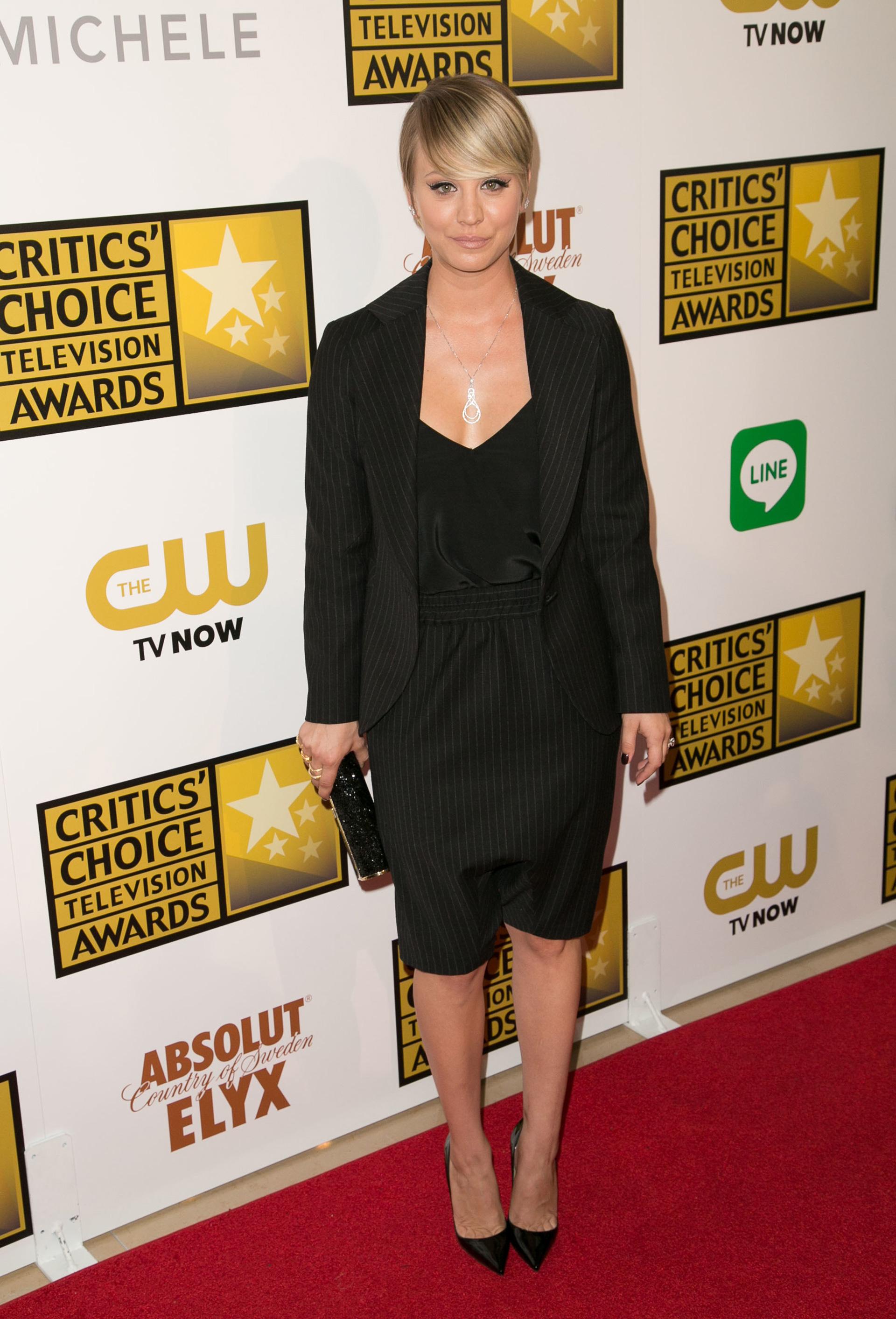 Kaley Cuoco at the Critic's Choice Awards