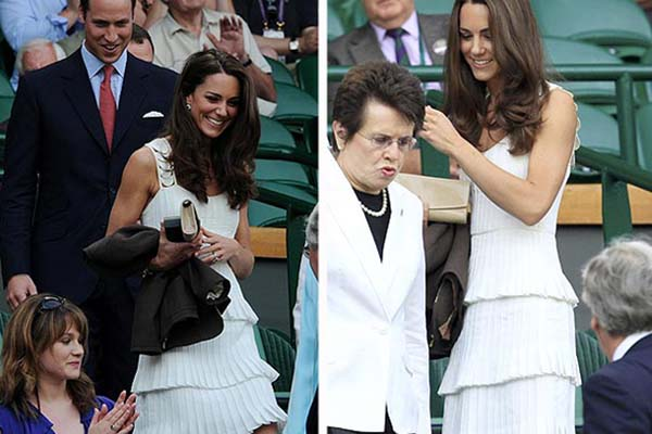 Kate Middleton in Temperley at Wimbledon