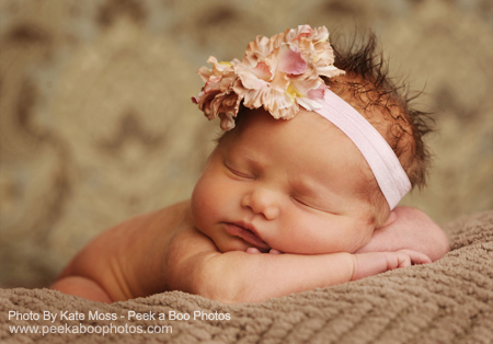 Flower headband - Photo by Kate Moss of Peek a Boo Photos www.peekaboophotos.com