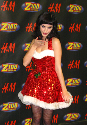 Katy Perry gets into the Christmas spirit