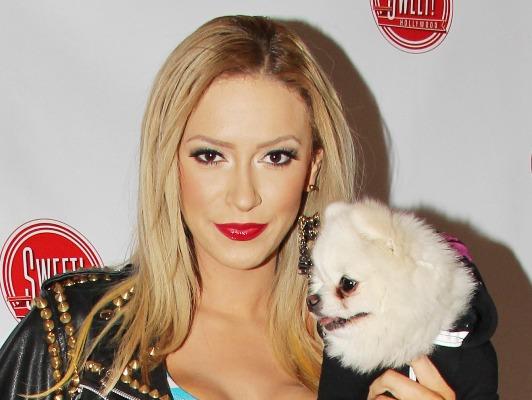Kaya Jones with dog