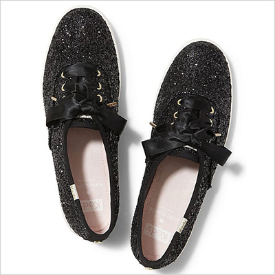 Keds x Kate Spade New York Champion Glitter Canvas Shoes in Black
