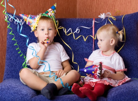 Kids on New Year's Eve
