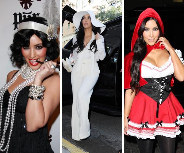 Kim Kardashian in Halloween beauty battle