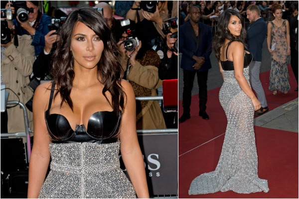 Kim Kardashian on the GQ red carpet