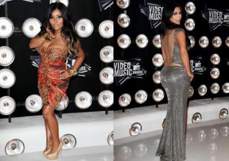 "Nicole ""Snooki"" Polizzi and Kim Kardashian"