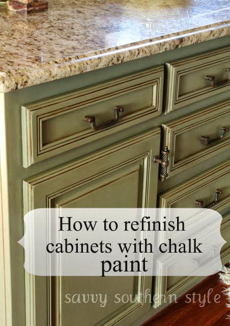 Kitchen cabinets tutorial using chalk paint