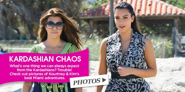 kim and kourtney kardashian banner